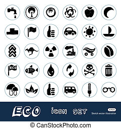 Ecology and environment web icons