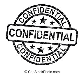 Confidential Stamp Shows Private Correspondence Or Documents...