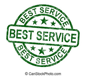 Best Service Stamp Shows Top Customer Assistance - Best...