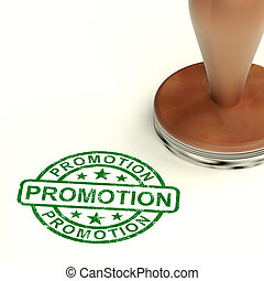 Promotion Stamp Shows Sale And Reduction