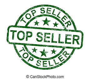 Top Seller Stamp Shows Best Services Or Products