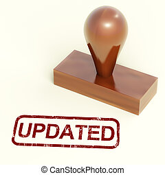 Updated Stamp Shows Improvement Upgrading Or Updating -...