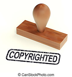 Copyrighted Rubber Stamp Showing Patent - Copyrighted Rubber...