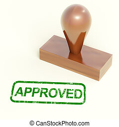 Approved Rubber Stamp Shows Quality Excellent Products -...