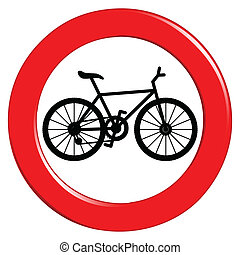 No bicycle sign - Illustration of the traffic sign on a...