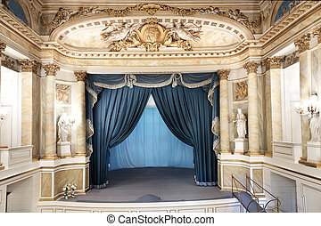 Sights of Warsaw. - Theater in Royal Park Lazienki. Seat of...