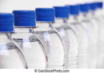 water bottle lids - row of water bottle lids with select...