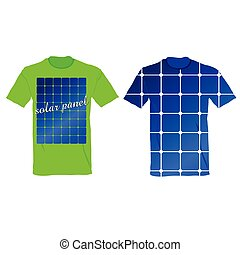 t-shirt with an illustration of solar panels