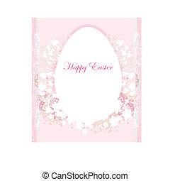 Easter Egg On Grunge Background