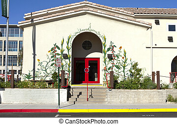 Community market, Reno NV. - Entrance to a community market...