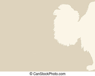 camel silhouette on brown background, vector illustration
