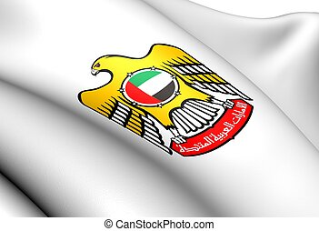 United Arab Emirates Coat of Arms. Close Up.