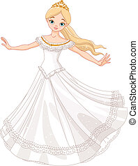 Dancing princess - Illustration of beautiful princess...