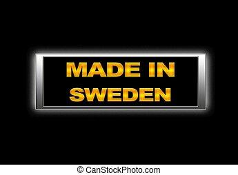 Made in Sweden.