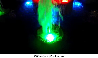 Multicolor nigtime fountain - Multicolor light water...