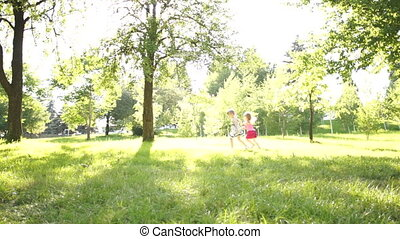 Children running - Children outdoors
