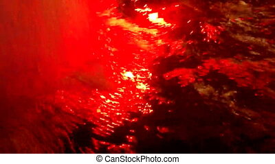 Multicolor water foam - Multicolor lights from water foam...