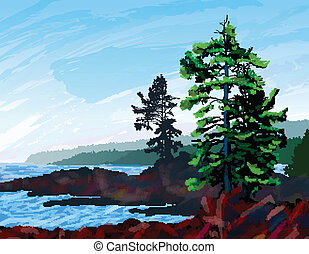 West Coast Landscape Painting - Beautifull digital painting...