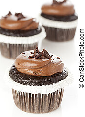 Chocolate Frosted Cupcake - A delicious chocolate Frosted...