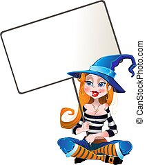 witch with big plate - witch with big porthole and hold in...