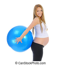 Beautiful pregnant woman - Beautiful young pregnant woman...
