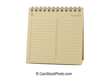 August 2012 Calendar - Desktop calendar August 2012 in...