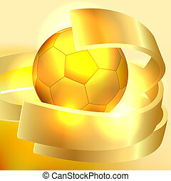 Gold soccer ball background