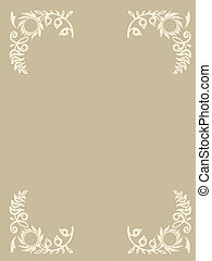 east ornament on brown background, vector illustration