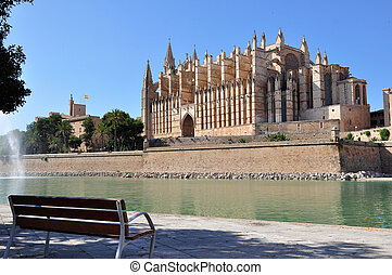 Mallorca Cathedral - View of Cathedral Le Seu, Palma de...