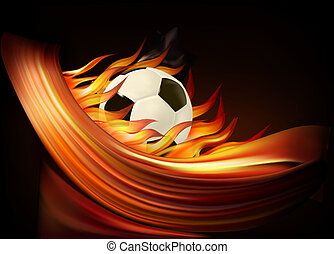 Fire football background