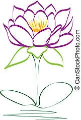 Purple lotus flower vector