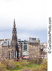 Scott Monument - The historic Scott Monument with Cityscape...