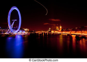 London Eye England - LONDON - April 15: London Eye with Big...