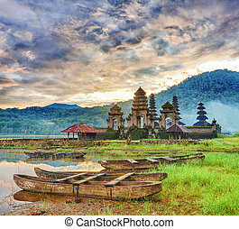 Komala Tirta - Temple Komala Tirta at sunrise time...
