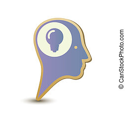Creative man. Label sticker . Modern concept