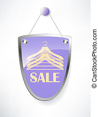 The shield, sale sign.