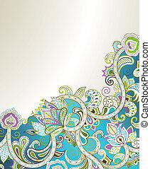 Abstract Floral - Illustration of abstract floral background...