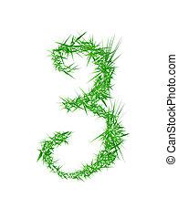 Number 3, grass texture