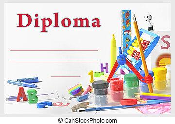 diploma, pré-escolar