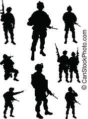 exército, soldados