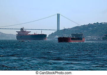 ships on the Bosphorus