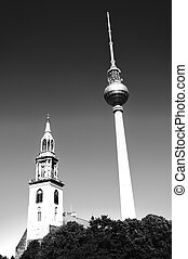 berliner fernsehturm is a television tower un berlin germany
