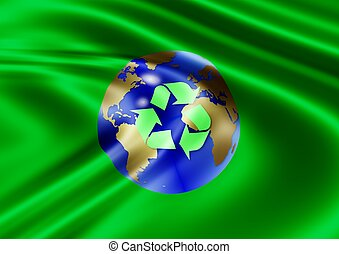 recycle world flag