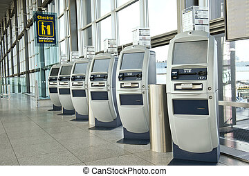 Airport check-in point - Fly check-in point in Copenhagen...