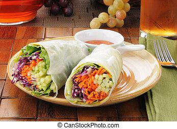 Salad wrap sandwiches