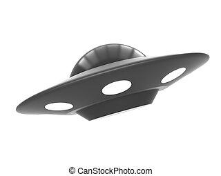 Ufo isolated on white background