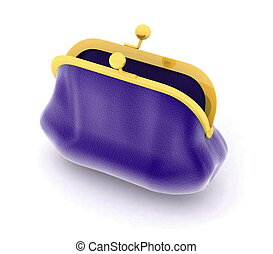 purse on a white background