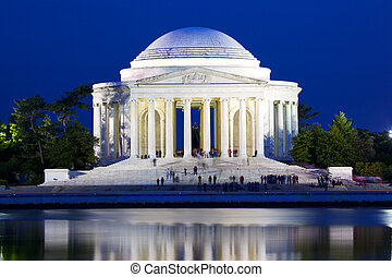 Jefferson Memorial - The Jefferson National Memorial at dusk...