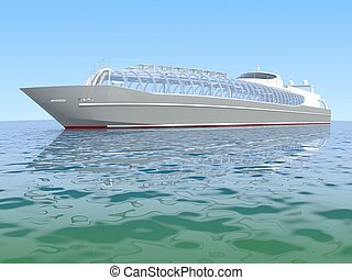 luxury white cruise ship