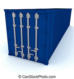 Closed cargo container